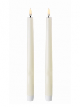 LED Taper Candle (Ø=2,3cm) von Uyuni Lighting in Ivory