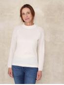 Pullover Aenna von Sorgenfri Sylt in Ivory