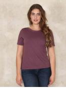 Shirt Heva von Sorgenfri Sylt in Aubergine