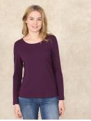 Shirt Mabeli von Sorgenfri Sylt in Raisin