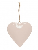 Anhänger (Herz) (10x10) von Ib Laursen in Rosa
