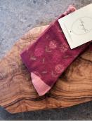 Socken Irma Stamp von Sorgenfri Sylt in Purple