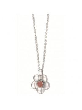 Halskette R625 von Sence-Copenhagen in Worn-Silber