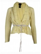 Knit Cardigan 3975-66 von Nü by Staff-Woman in Acid Yellow