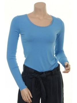 Spitzen T-Shirt 1-0174-27 von Noa Noa in Sky Blue