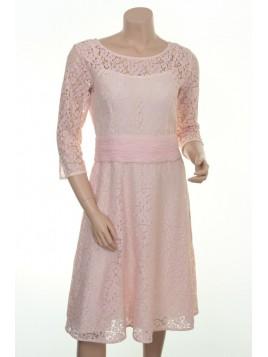 Prinzessinnen-Kleid H-103 von Und-Hübsch in Rose