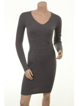 Stretch-Kleid Agnola von Part-Two in Medium Grey Melange