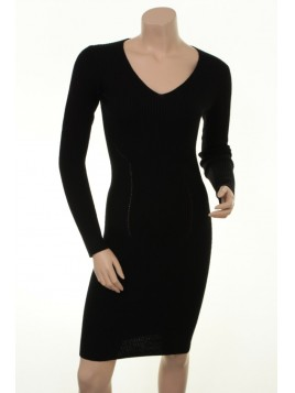Stretch-Kleid Agnola von Part-Two in Black