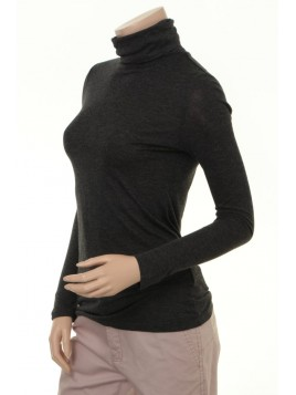 Rollkragen-Shirt Afina von Part-Two in Dark Grey Melange