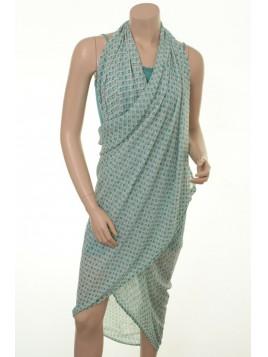 Sarong-Tuch H-221 von Und-Hübsch in Grün