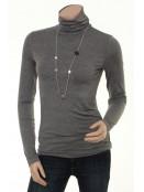 Rollkragen T-Shirt Bafrida von Part-Two in medium grey melange