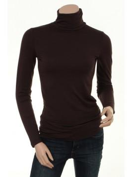Rollkragen T-Shirt Bafrida von Part-Two in dark brown