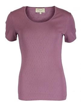 Baumwoll T-Shirt Maren von Sorgenfri Sylt in Amethyst