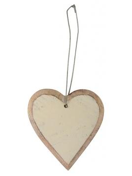 """Holz-Anhänger """"Herz"""" von Ib Laursen in creme"""