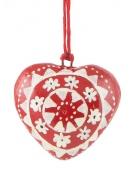 Anhänger (kl. Herz) von Ib Laursen in Rot mit Mandala