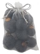 Kleine Weihnachtskugeln (10Stk.) von Ib Laursen in schwarz
