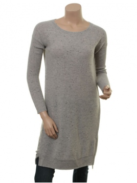 Kleid Fina von Part-Two in Light Grey Melange