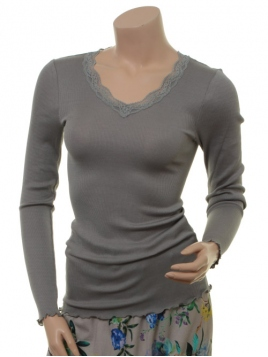 Seiden-Shirt Kirsten von Sorgenfri Sylt in Moss
