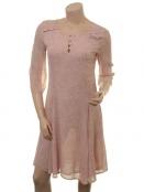 Kleid Garbo von Part-Two in Artwork Light Pink