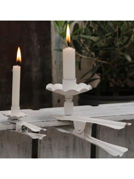 Kerzenhalter von Chic Antique in AntikWeiss