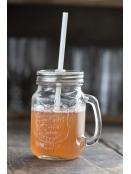 Glas mit Deckel und Strohhalm von Ib Laursen