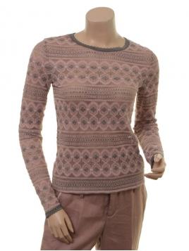 Langarm T-Shirt 1-7318-1 von Noa Noa in Art Grey