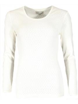 Langarm T-Shirt Malin (27-045-100) von Sorgenfri Sylt in Ivory