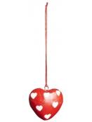 Anhänger (kl. Herz) von Ib Laursen in Rot mit Herzen
