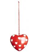 Anhänger (gr. Herz) von Ib Laursen in Rot mit Herzen