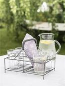 Korb für Gläser von Ib Laursen in Grau