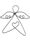 kl. Drahtengel (Herz) von Ib Laursen in Schwarz