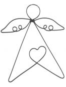 gr. Drahtengel (Herz) von Ib Laursen in Schwarz