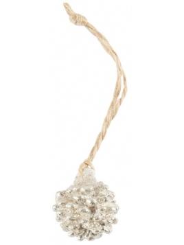 Anhänger mit Glitter (Zapfen) von Ib Laursen in Silber