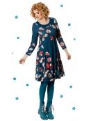 Kleid Ninnas Blossoms blau von Du Milde