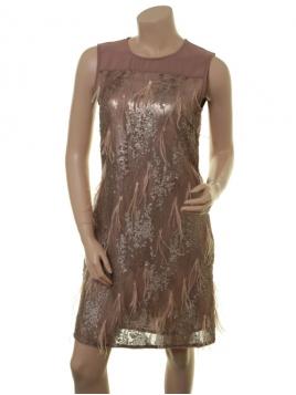 Glitzer-Kleid Blix von Part-Two in Nougat