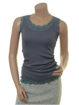 Seiden-Shirt New Moni von Sorgenfri Sylt in Aqua