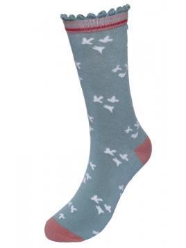 Socken Irma-Seabird von Sorgenfri Sylt in misty green
