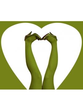 Strumpfhose Stromper Parrotgreen von Du Milde