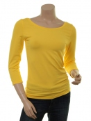Langarm T-Shirt Trinis von Du Milde in yellow