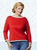 Pullover Camilla Lobster von Du Milde in Rot