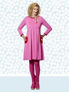 Kleid DU-Almina-Crazy-Pattern von Du Milde in RosaRot