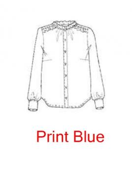 Blouse 1-8385-1 von Noa Noa in print blue