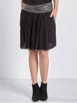 Glitzer Rayon-Skirt 5518-20 black von Nü by Staff-Woman