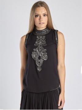 Glitzer Top 5518-56 black von Nü by Staff-Woman