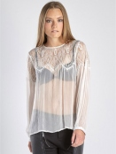 Transparent-Blouse 5539-50 creme von Nü by Staff-Woman