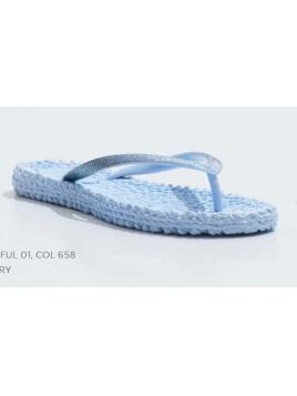 CHEERFUL, FlipFlops, Bluebell-Blau 658 von Ilse Jacobsen