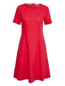 Leinen-Kleid Kalena tomato puree von Part-Two