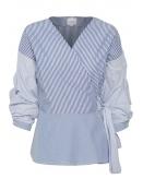 Blouse Sami yarn dyed blue st von InWear