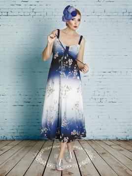 Kleid Bitten Teaparty Long von Du Milde