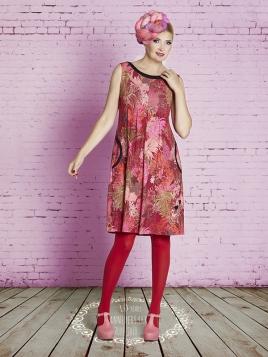 Kleid DU-Hawaiianflower-Almina von Du Milde in Red